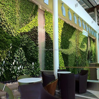 Popular modular green wall vertical garden plastic vertical green wall for hotel or home decoration