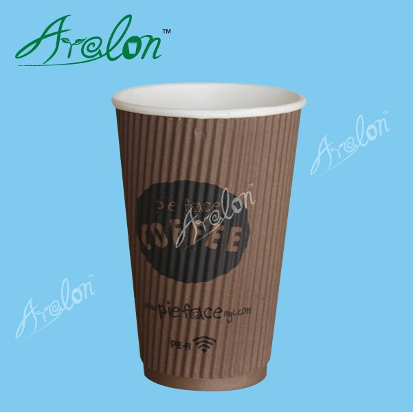 Disposable kraft paper heat-insulated double wall cup