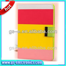 Classical three color case wallet leather case for samsung galaxy tablet case 7 /8/8.9/10.1 inch
