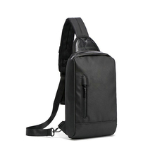 Fashionable waterproof polyester black lightweight shoulder sling bag men