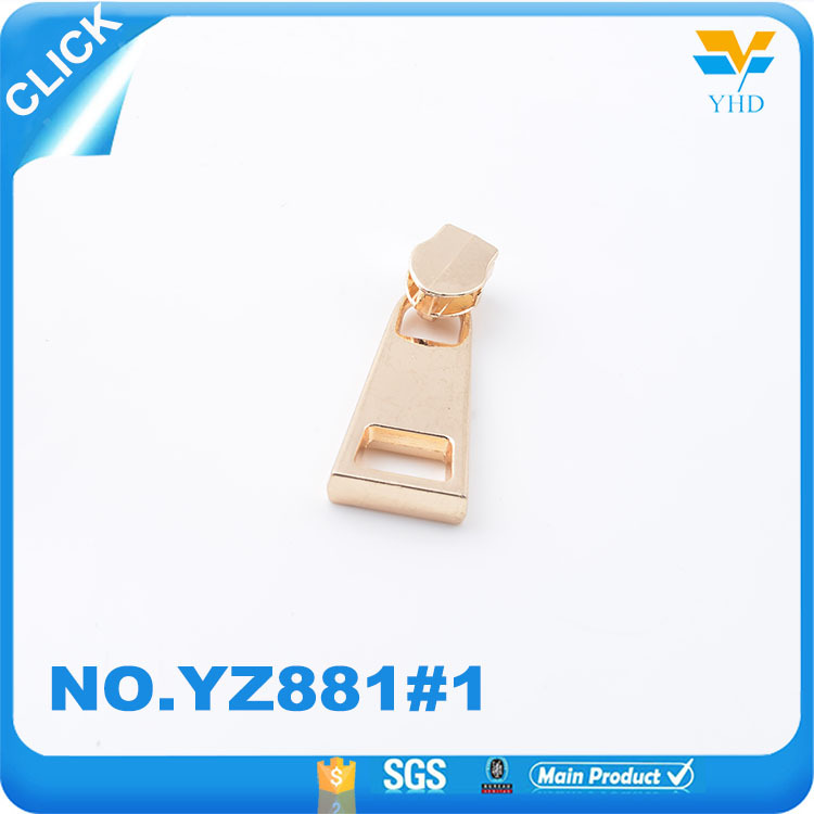 Wholesale bag handware parts company custom metal zippers accessories