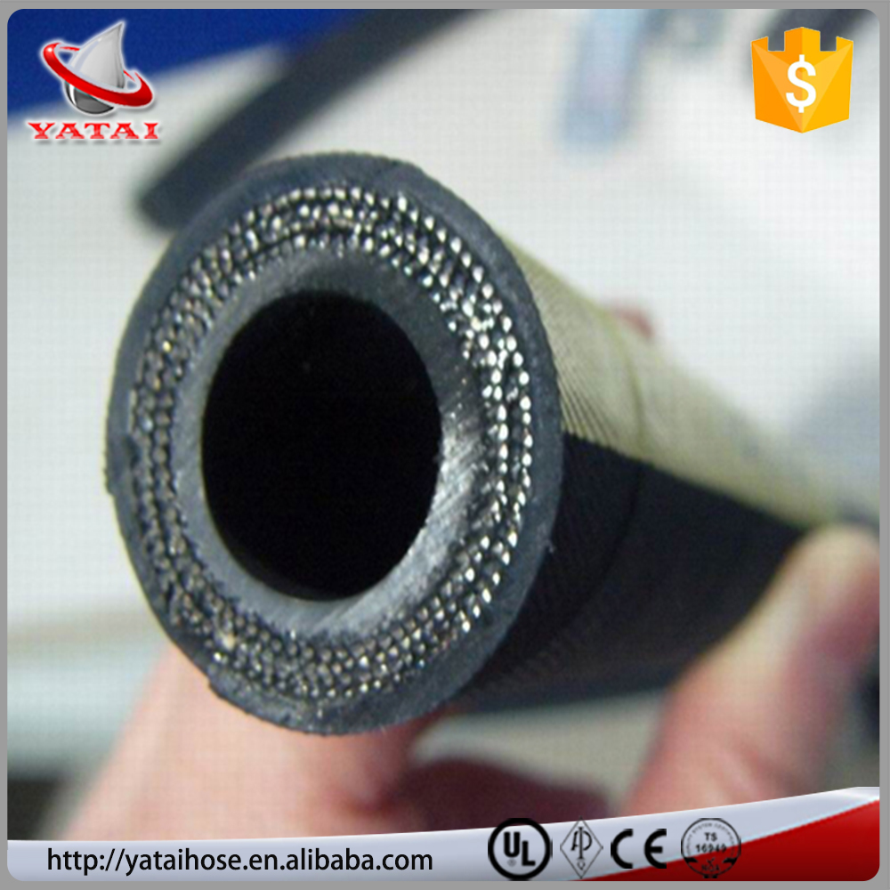 DN16 4SP Heat Resistant Hydraulic Rubber Hose For Crane