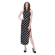 2016 Wholesale open leg long dress with high slits for women