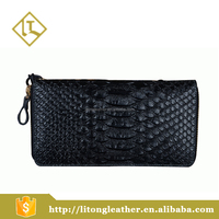 Funky wallet luxury genuine snake skin clutch purse leather wallet