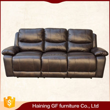 China furniture living room reclining sofa set leather,high quality top grain leather sofa