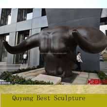 Outdoor Large Size Famous Bronze Bull Head Sculpture(Customized is availiable)