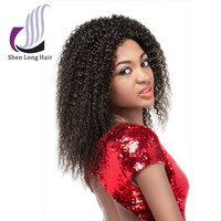2015 trendy style can be dyed/bleached afro kinky human hair lace front wigs
