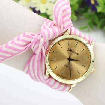 Fashion New Most Popular Watches For Ladies Women Cloth Watch High Quality Wristwatch