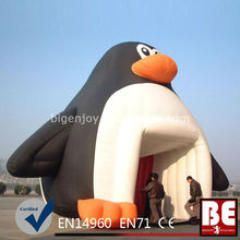big Inflatable penguin Tent tennel