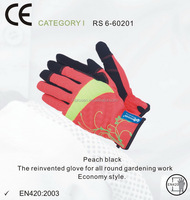 RS SAFETY light duty Stretchy nubuck waterproof safety garden glove