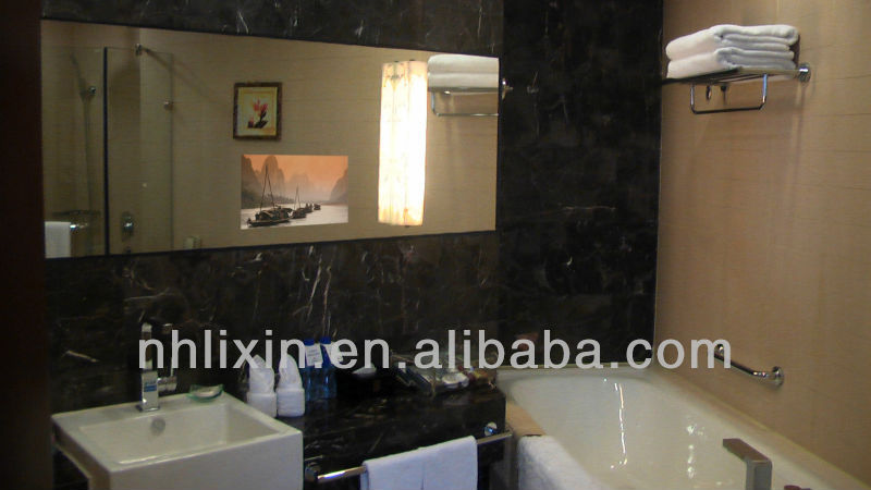 customized wall mounted bathroom TV mirror for hotel project
