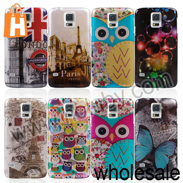 Fashion Cute Owl Phone Case for Samsung Galaxy S5, For Samsung Galaxy S5 Case
