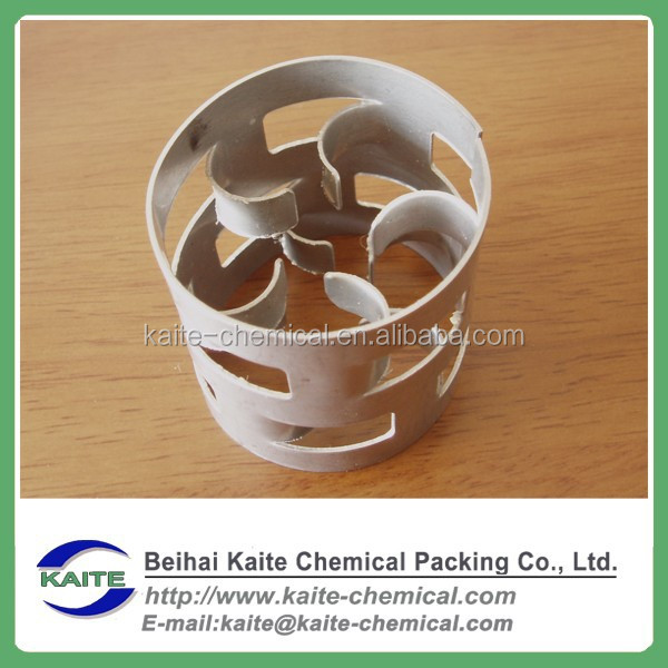 Metal pall ring for water treatment