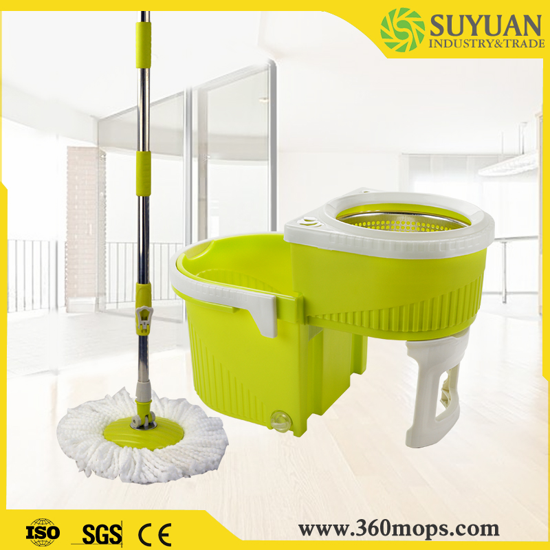 Easy and simple to handle circular mop bucket
