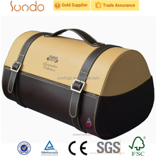 custom high quality 2 bottle leather wine carrier