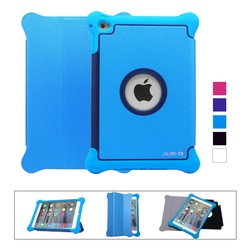 Magnetic Smart Leather silicone PC 3 in 1 Cover + Back Case for Apple iPad 2 3 4 air air 2 mini 1 2 3