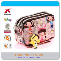 There pockets funny handbags, girl cosmetic bags, carrying bags for cell phone