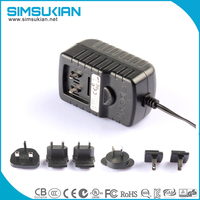 SK02G 12V 1A adapter/USA to Europe Plug Adapter Imperial Design Top Quality Universal Travel Adapter Plug AC Wall Charger