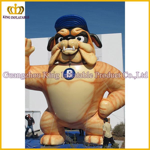 2016 Factory Direct Wholesale inflatable bull dog cartoon model,giant inflatable dog