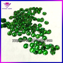 Round Faceted Synthetic Emerald CZ gems cubic zirconia stones Buyers in Sri Lanka