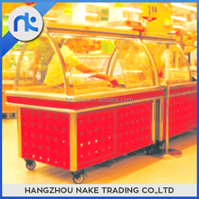 Popular design hot cooked food display case food showcase
