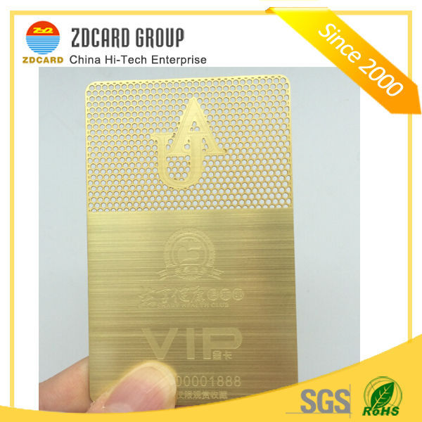 Good Warranty Black Engraved and Brushed Business Card Metal