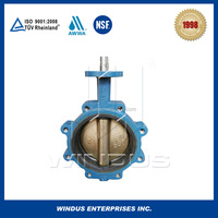 ALB disc gear operated butterfly valves Manufacturers