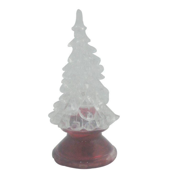 Light Up Acrylic Xmas Tree Ornament Decoration With Colour Changing LED