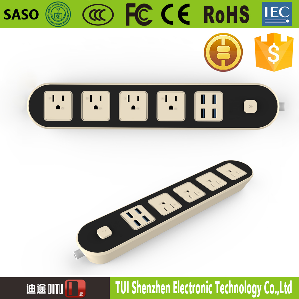 4 OUTLET HOME/OFFICE SURGE PROTECTOR BAR 4-Outlet socket USB POWER STRIP