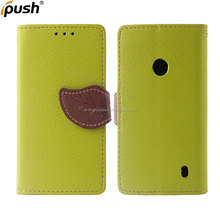 PU leather flip wallet cover can stand with card slot and sling leaf button design TPU case for Samsung I8190