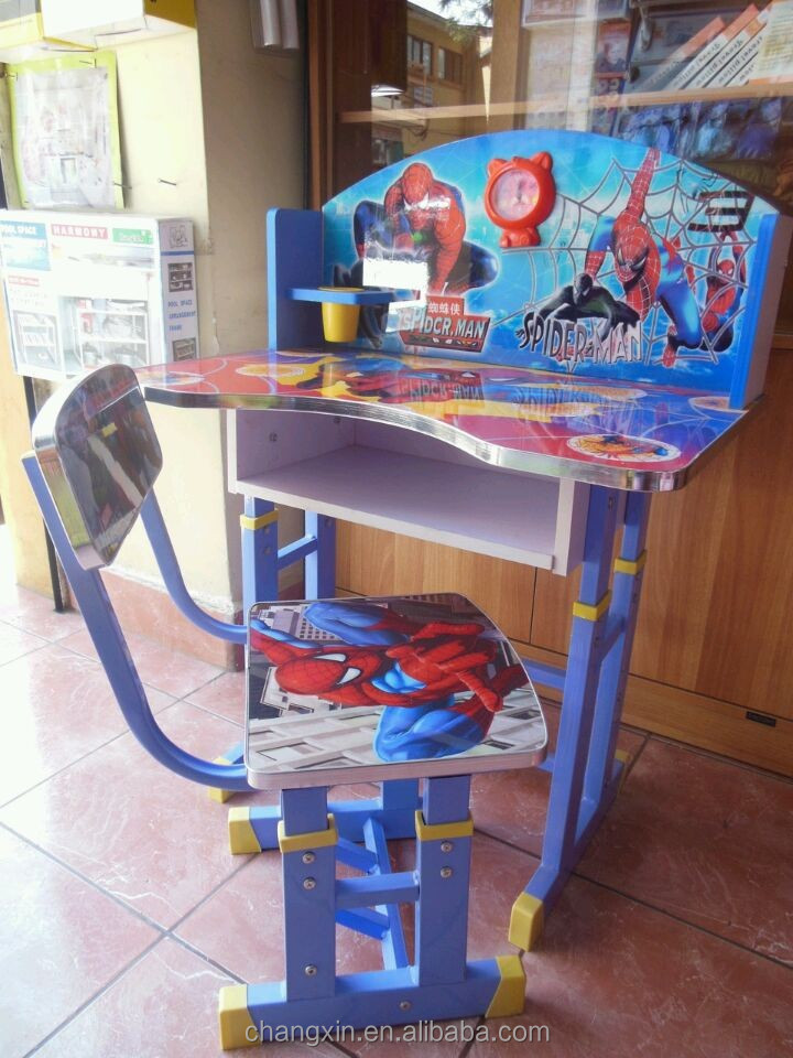 lovely cartoon children study desk and chair set wholesale