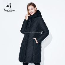 Big size female warm parka thick cotton outwear lace soft long jacket winter thick coats winter jacket