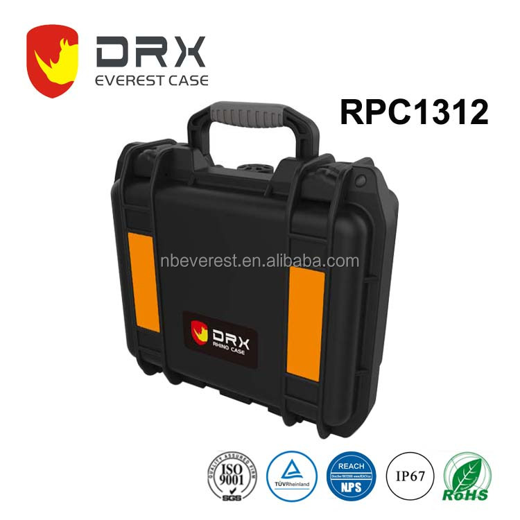 IP67 Waterproof hard High-Impact plastic equipment carrying case with handle