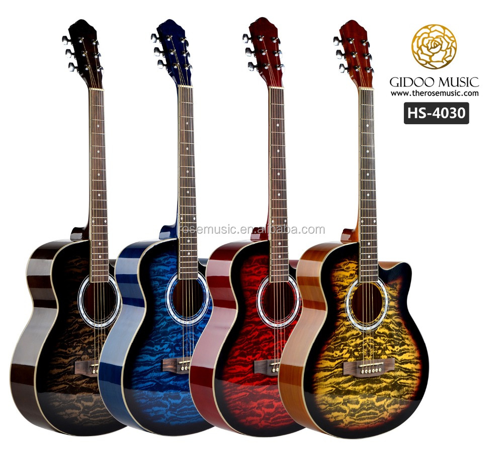 HS4030 guitar manufacturer best selling 40inch linden wood cheapest price guitar