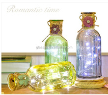 led and coloful glass flower bottle