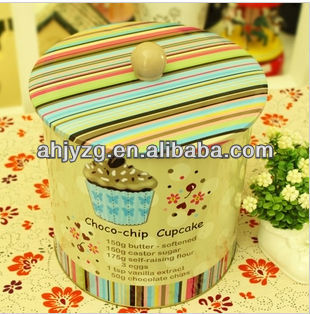 cup shape cupcake candy cookies packaging tin box