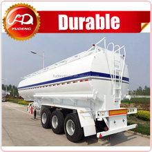 Carbon steel manhole cover 40000liters fuel tanker truck trailer with 5 compartments