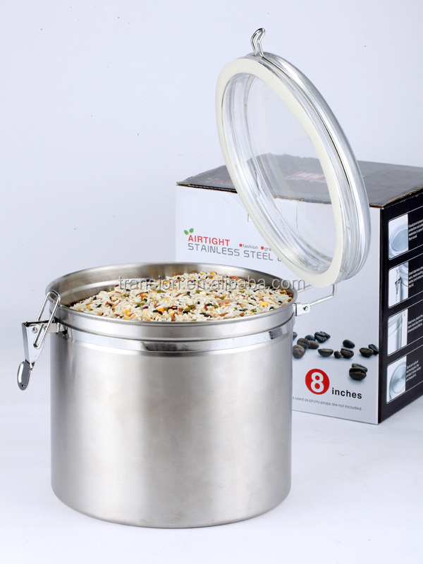 8 stainless steel airtight canister set with lid buy 8