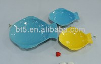 hot sale ceramic fish dinner plates for hotel in New Year