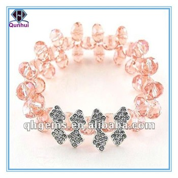 round shaped pink cz bracelets