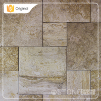 2015 New Design Low Price Yellow Limestone Seamless Joining Polished Tile