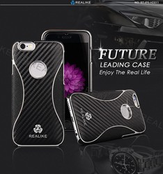 carbon fiber leather chrome back cover case for iphone 6 plus original unlock phone, phone case for iphone 6s plus