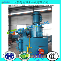 10-20kgs small diesel oil fuel Solid Waste Incinerator, 3D installation and operation video equipped