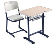 Wood and steel material classroom student desk and chair for primary school