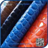 Latest Style High Quality diamond-type lattice faux leather fabric for jacket