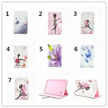Beautiful Girls/Flower/Butterfly Pattern Leather Cover TPU Case for Samsung Tab E, for samsung tab E T560 9.6 Inch case