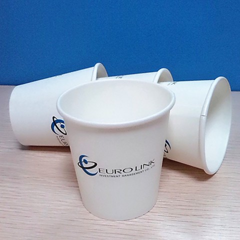 7oz disposable raw material design paper cups for wholesale