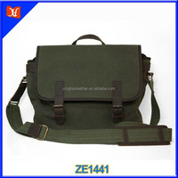 China Hot sell Men's Waxed Canvas Download Messenger Bags Wholesale