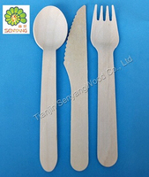 tableware disposable wooden spoon fork kinfe
