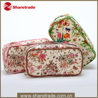 2016 Cheap Wholesale Cosmetic Bags With Flower Printed